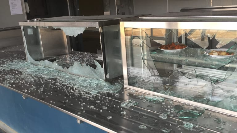 An image from Christmas Island detention centre released by Immigration Minister Peter Dutton's office.