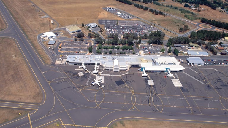 Canberra Airport from above in 1998.