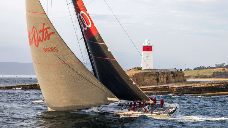 Relegated: Wild Oats XI finished second in the Sydney to Hobart after receiving a one hour penalty.