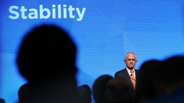 Prime Minister Malcolm Turnbull added a new word to his campaign slogan during the Coalition's formal launch in Sydney on Sunday.