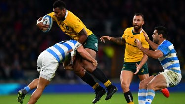 Samu Kerevi's double guided the Wallabies to an improbably win.