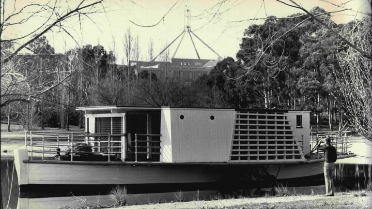 The Enterprise as pictured on Lake Burley Griffin in September, 1988.