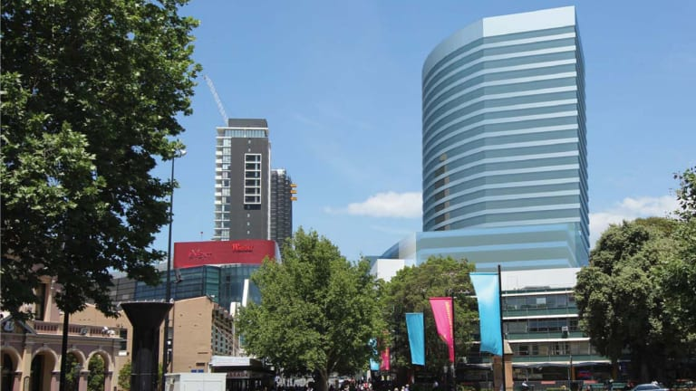 Plans for an upgraded Westfield Parramatta, looking south from Church Street Plaza.