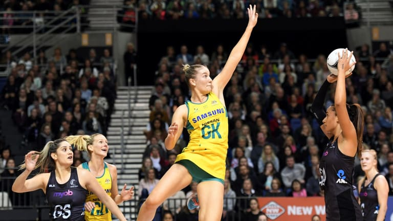 Diamonds defender Courtney Bruce says Sharni Layton hasn't missed a beat since stepping away from the game.