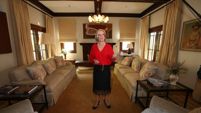 Lucy Turnbull in the drawing room at The Lodge.