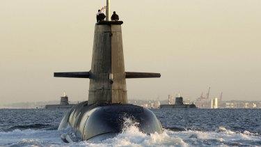 HMAS Collins, an Australian-built Collins-class submarine.