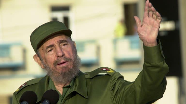 Former Cuban president Fidel Castro in Havana in 2004.