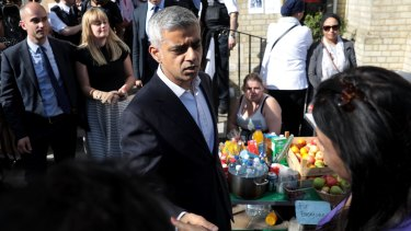 London mayor Sadiq Khan says the UK government has not done enough to help the community after the blaze.