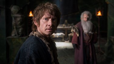 Freeman as Bilbo Baggins in <i>The Hobbit: The Battle of the Five Armies</I>.