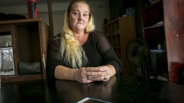 Edwina Crawford, who says she has been repeatedly harassed by a debt collector.
