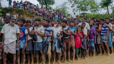 More than 400,000 people have fled Myanmar's Rakhine State, across the border to Bangladesh.
