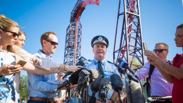 Queensland police Assistant Commissioner Brian Codd speaks to media at Dreamworld.