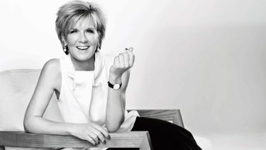 Foreign Affairs Minister Julie Bishop posed for <i>Harper's Bazaar</i> magazine in late 2014.