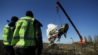 Avoidable: The wreckage of Malaysia Airlines flight MH17, believed to have been shot down in July.