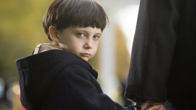 Psychopathic child Damien in the 2006 remake of <i>The Omen</i>.
