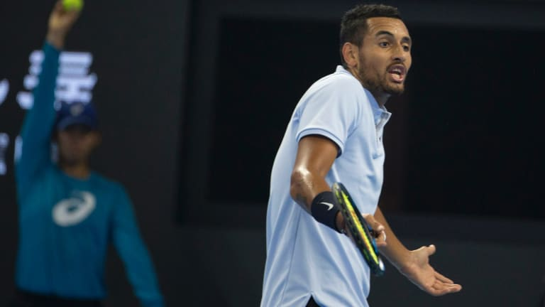 Until Nick Kyrgios gets a coach he won't be making any inroads at the grand slams in 2018.