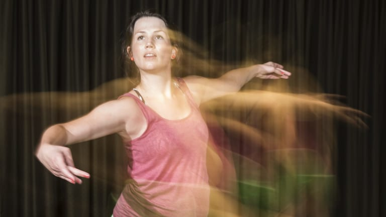 Dance teacher Rikki Bugden at the workshop