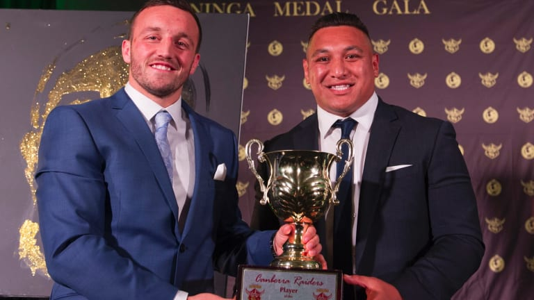 Josh Hodgson and Josh Papalii both polled 19 votes in the Mal Meninga medal as Canberra's player of the year.