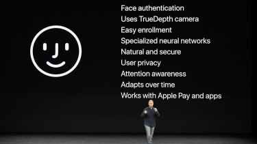 Phil Schiller, senior vice president of worldwide marketing at Apple, talks about Face ID.