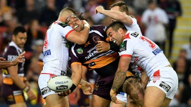 Signature tussle: The Dragons, the Knights and the Warriors could all be after Adam Blair.