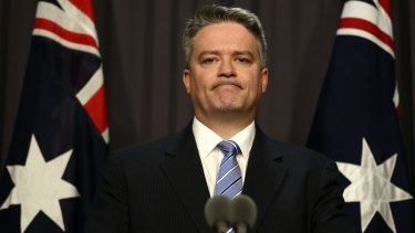 Reduced funding: Financce Minister Mathias Cormann says the ABC is not having its funding cut, it is facing an efficiency dividend,