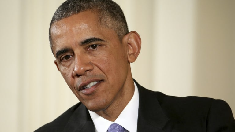 President Obama said that there was no mechanism to take back Bill Cosby's Presidential Medal of Freedom over sexual misconduct allegations, but said using drugs on women or men without consent for sex was rape.
