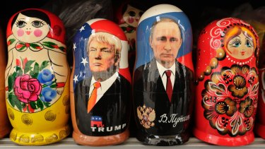 Russian dolls: At times, Trump seems besotted with Putin.