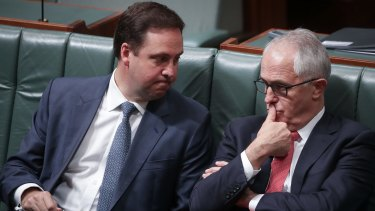 Trade Minister Steven Ciobo, left, with PM Malcolm Turnbull, said there was still work to do on the agreement.