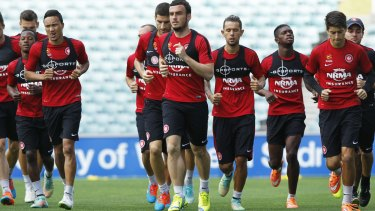 United front: Wanderers players are remaining firm on their threat to withdraw from training sessions and potentially the opening match against Mexican club Cruz Azul.
