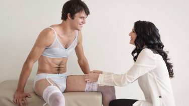 G-strings, bras and stockings are part of the men's lingerie range.