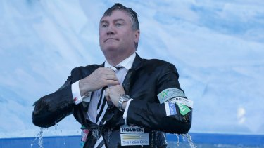 Eddie McGuire during the Big Freeze at the MCG.