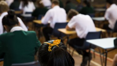 Students at a Sydney school will have to re-sit their HSC trials after the theft of exam papers.