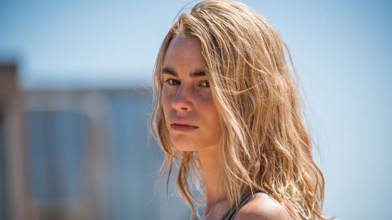 Lucy Fry as Eve in the Stan original Australian Series, <i>Wolf Creek</i>, which has been sold to the UK.