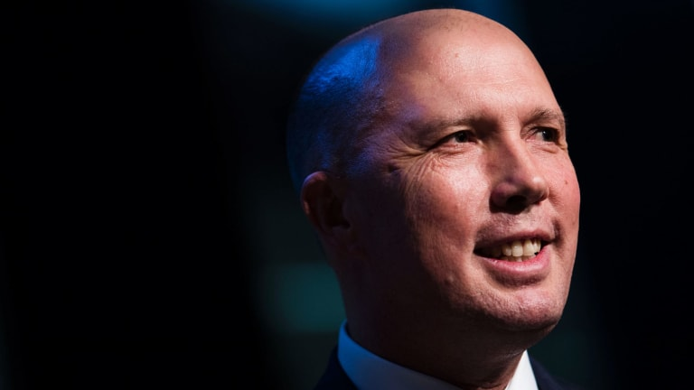 Minister for Immigration and Border Protection Peter Dutton. So loud, so angry, so white and so much a Queensland male!