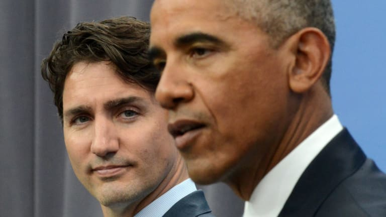 Justin Trudeau said he was deeply disappointed at the US decision, while Barak Obama wasted no time in criticising Trump's call.