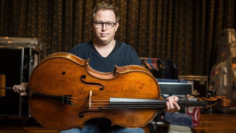 Timo Veikko Valve, Principal Cello of The Australian Chamber Orchestra with the newly acquired 400 year old cello from one of the greatest Italian violin makers of all time.