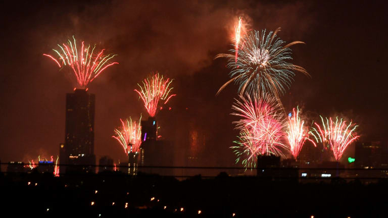 Melbourne sees in 2018 with the city's biggest-ever fireworks display.