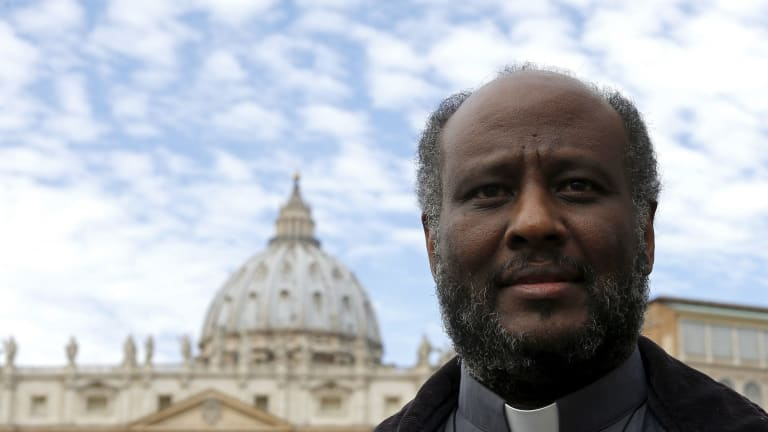 Father Mussie Zerai, a 40-year-old Catholic priest of Eritrean descent.
