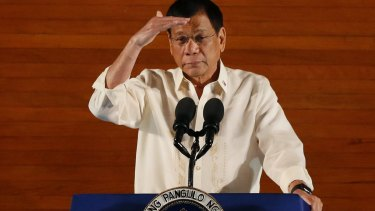 Philippines President Rodrigo Duterte delivers his first state of the nation address.