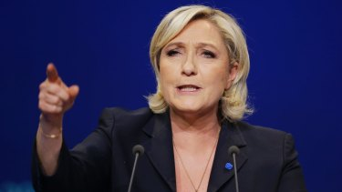 One fake news post invented a Figaro poll showing Marine Le Pen had 'won' a TV debate.