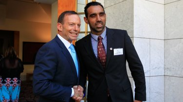 Prime Minister Tony Abbott has called on AFL fans to treat Adam Goodes with respect.