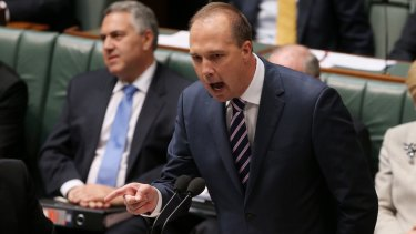 Immigration Minister Peter Dutton  has yet to apologise for the slur against Greens senator Sarah Hanson-Young.