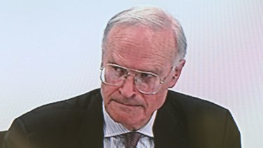 Commissioner Dyson Heydon at the Trade Unions Royal Commission on Thursday.
