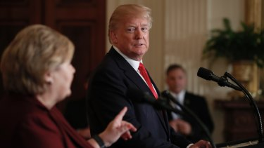 After meeting with Norway's prime minister Erna Solberg, Trump asked why the US couldn't take more Norwegian immigrants.