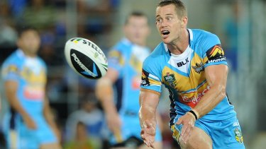 Charged: Former Gold Coast Titans player Ashley Harrison.