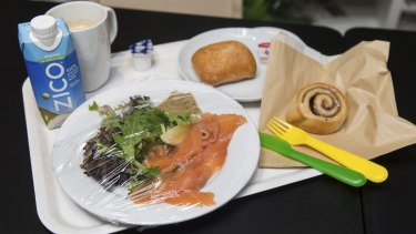 The smoked salmon plate at the IKEA restaurant.