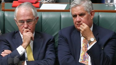 New Aged Care and Indigenous Health Minister Ken Wyatt, pictured with Mr Turnbull, becomes the first Indigenous person to hold a federal ministry.