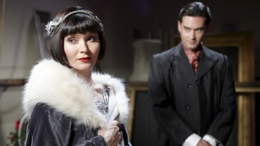 Essie Davis as Miss Phryne Fisher in hit ABC series, Miss Fisher's Murder Mysteries.