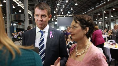 Premier Mike Baird and Minister for Women Pru Goward support the creation of a domestic violence register.