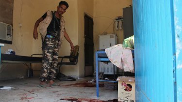 A man in the elderly care home that was attacked by gunmen in the port city of Aden on Friday.